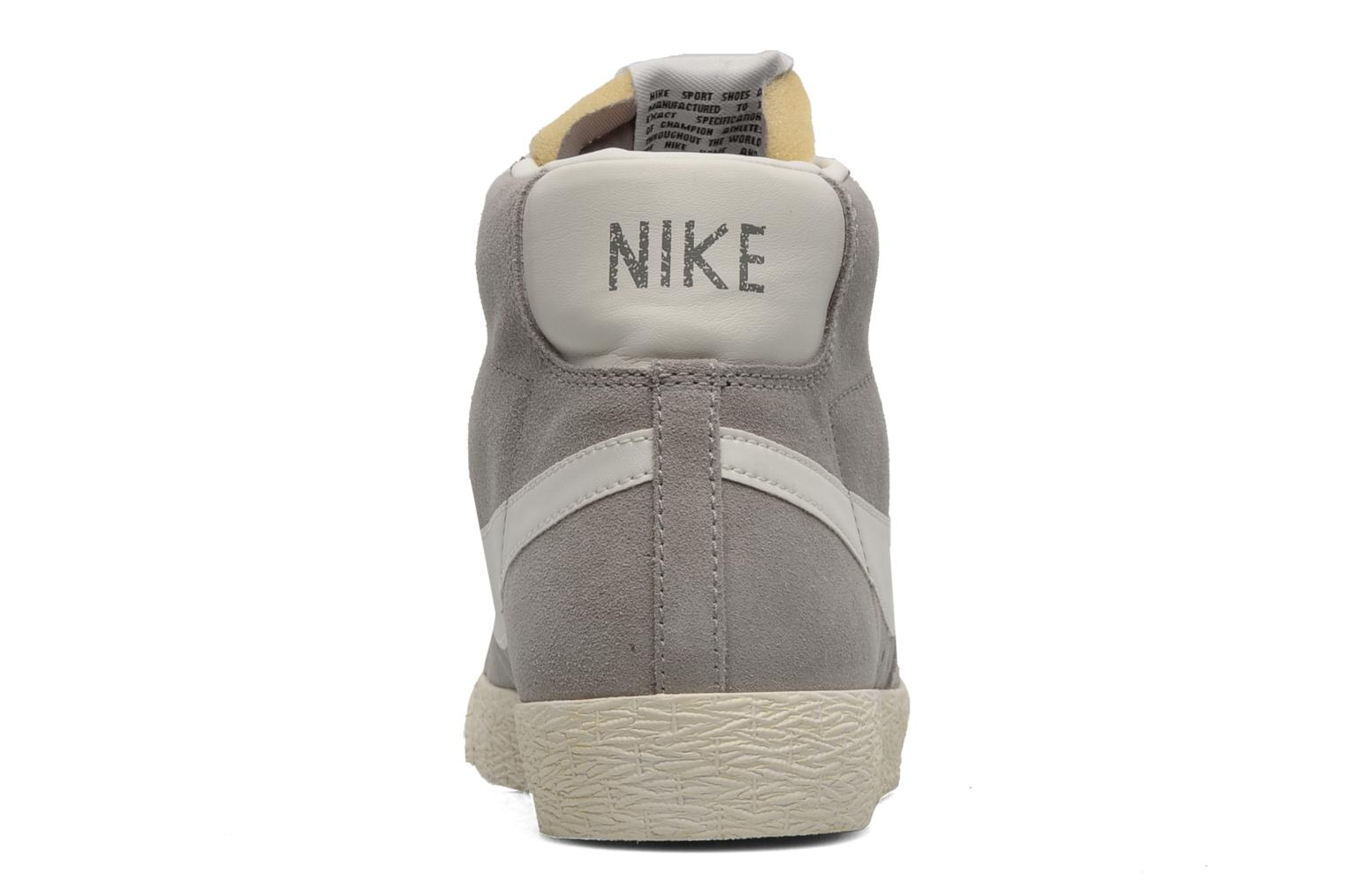 Trainers Nike Blazer mid prm Grey view from the right
