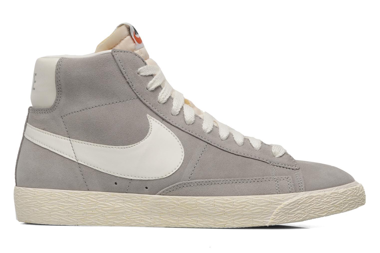 Trainers Nike Blazer mid prm Grey back view