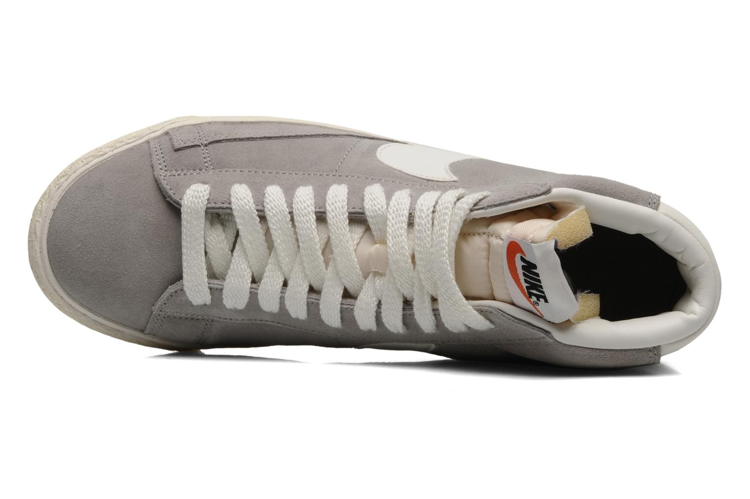 Trainers Nike Blazer mid prm Grey view from the left