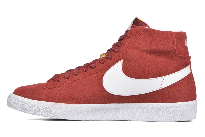 Sneakers Nike Blazer mid prm Rood voorkant