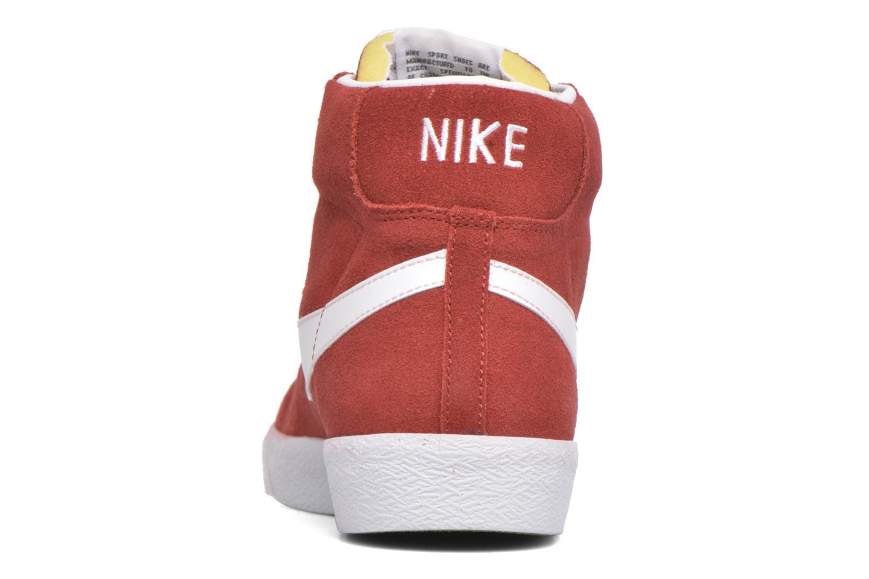 Sneakers Nike Blazer mid prm Rood rechts