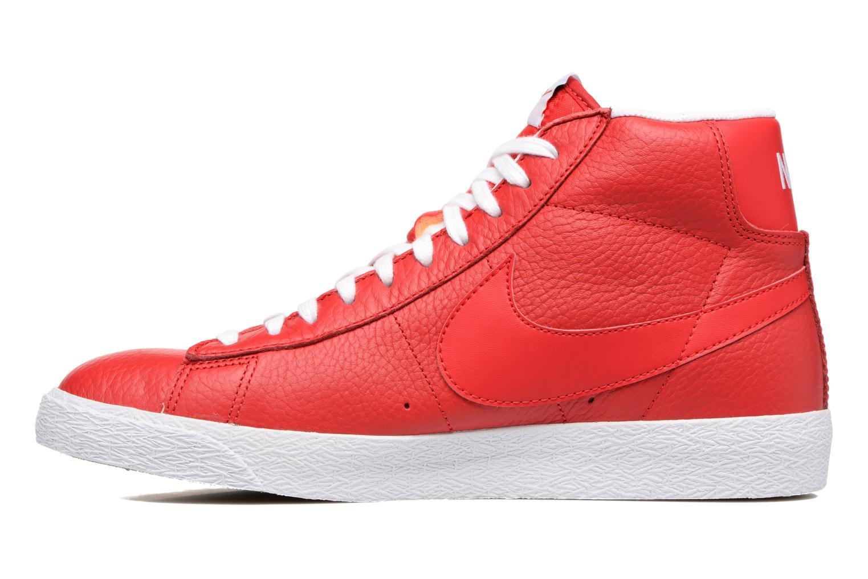 Baskets Nike Blazer mid prm Rouge vue face