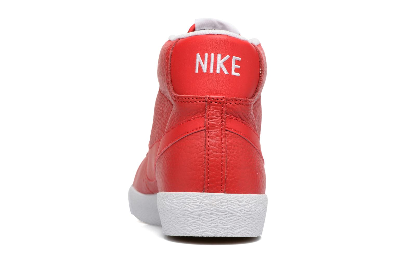 Sneaker Nike Blazer mid prm rot ansicht von rechts