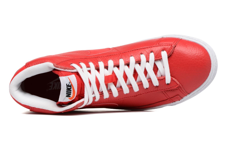 Sneaker Nike Blazer mid prm rot ansicht von links