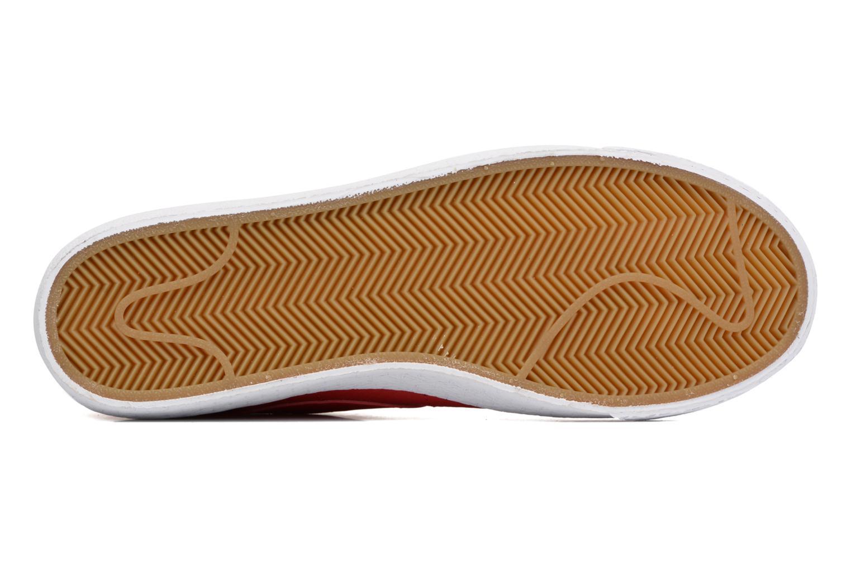 Baskets Nike Blazer mid prm Rouge vue haut