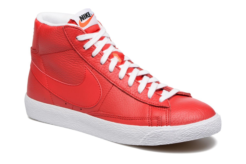 Baskets Nike Blazer mid prm Rouge vue détail/paire