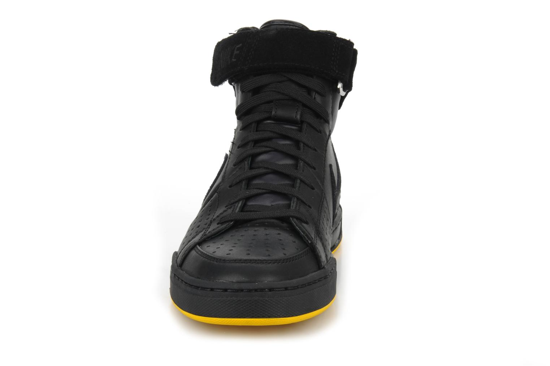 Sneaker Nike Flytop velcro schwarz schuhe getragen