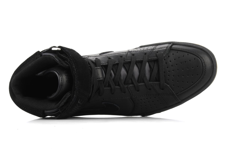 Sneaker Nike Flytop velcro schwarz ansicht von links