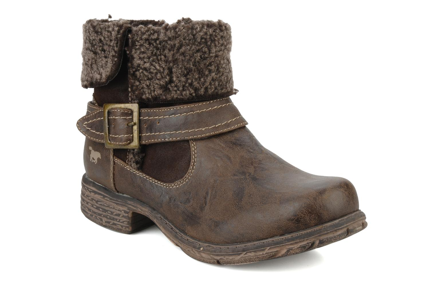 Ankle boots Mustang shoes Rato Brown detailed view/ Pair view