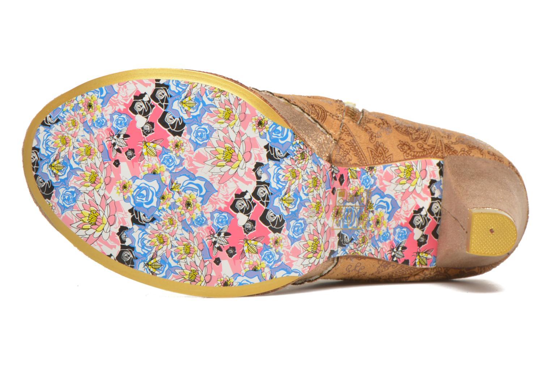 Bottines et boots Irregular Choice Miaow Beige vue haut