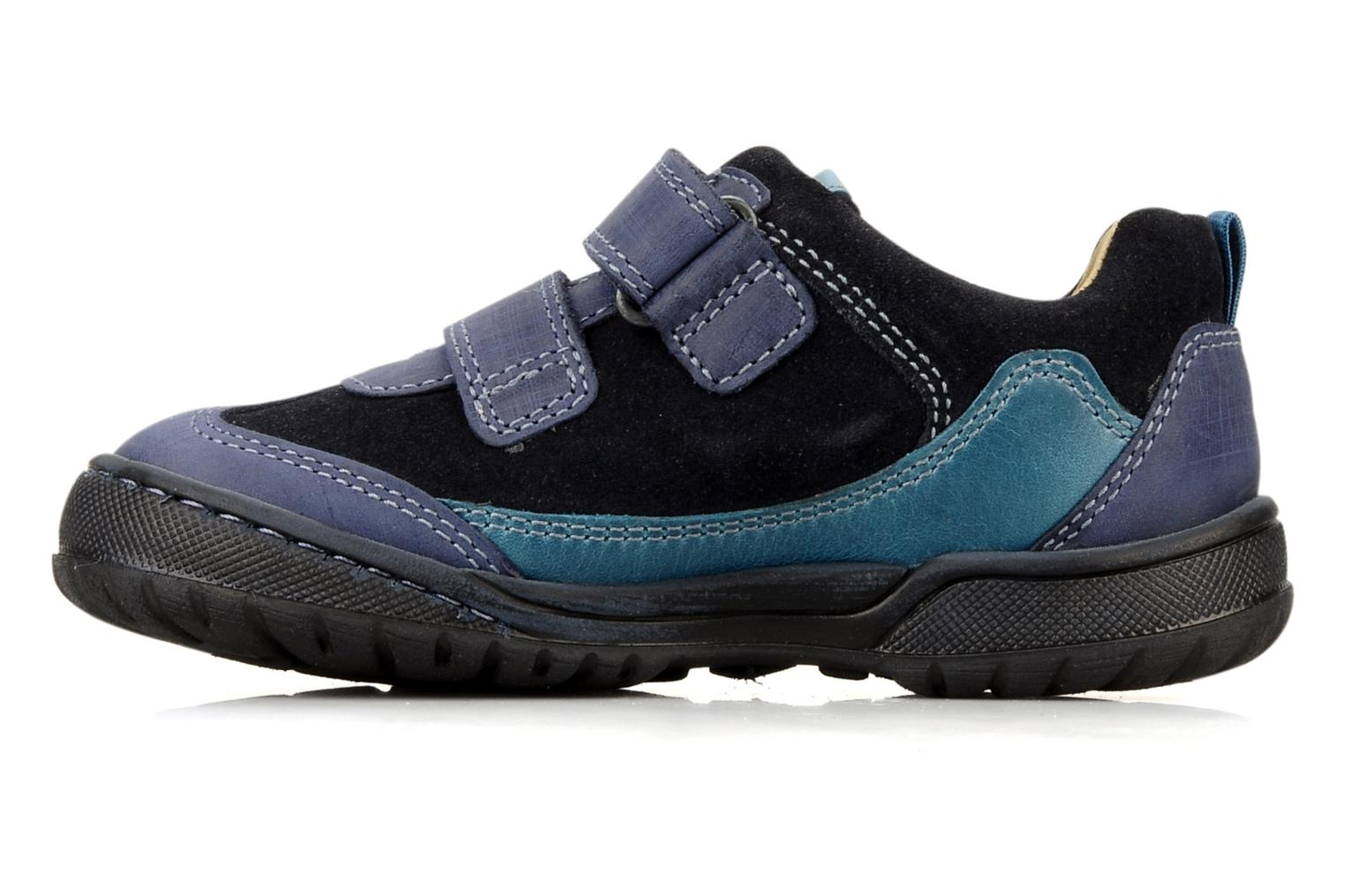 Velcro shoes Start Rite Trail Blue front view
