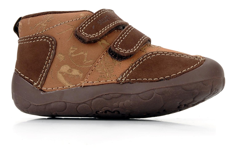 Chaussures à scratch Start Rite Fossil Marron vue derrière