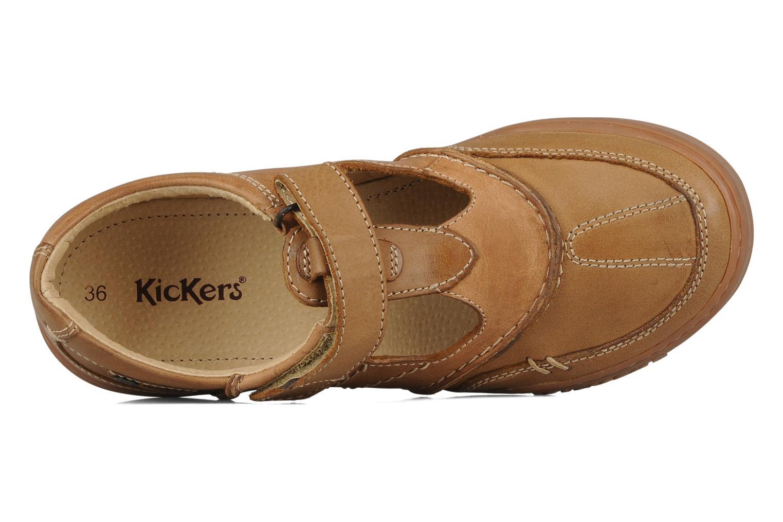 Chaussures à lacets Kickers Jimpy Marron vue gauche
