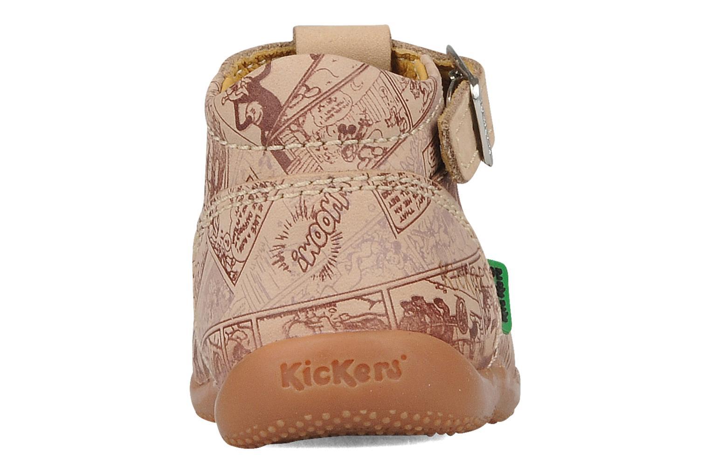 Bottines et boots Kickers Bonbek mickey Beige vue droite