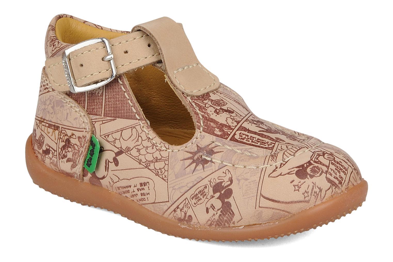 Bottines et boots Kickers Bonbek mickey Beige vue détail/paire