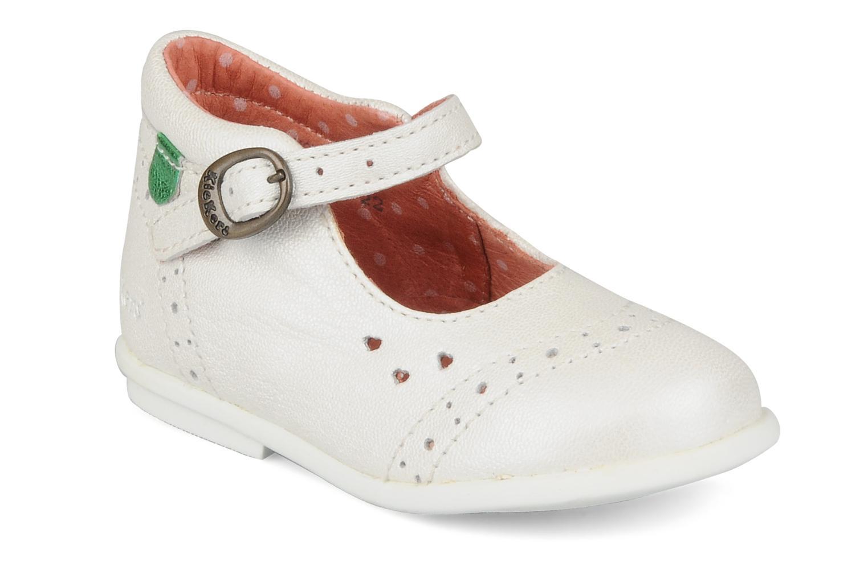 Bottines et boots Kickers Sara Blanc vue détail/paire