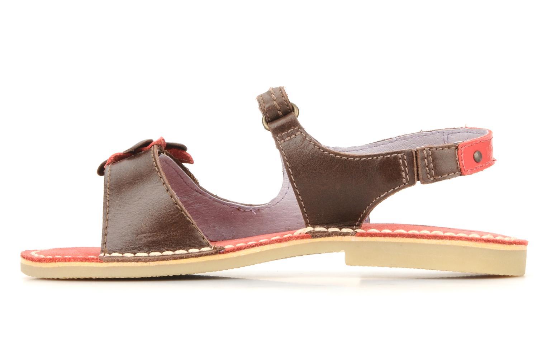Sandales et nu-pieds Kickers Kostaki Marron vue face