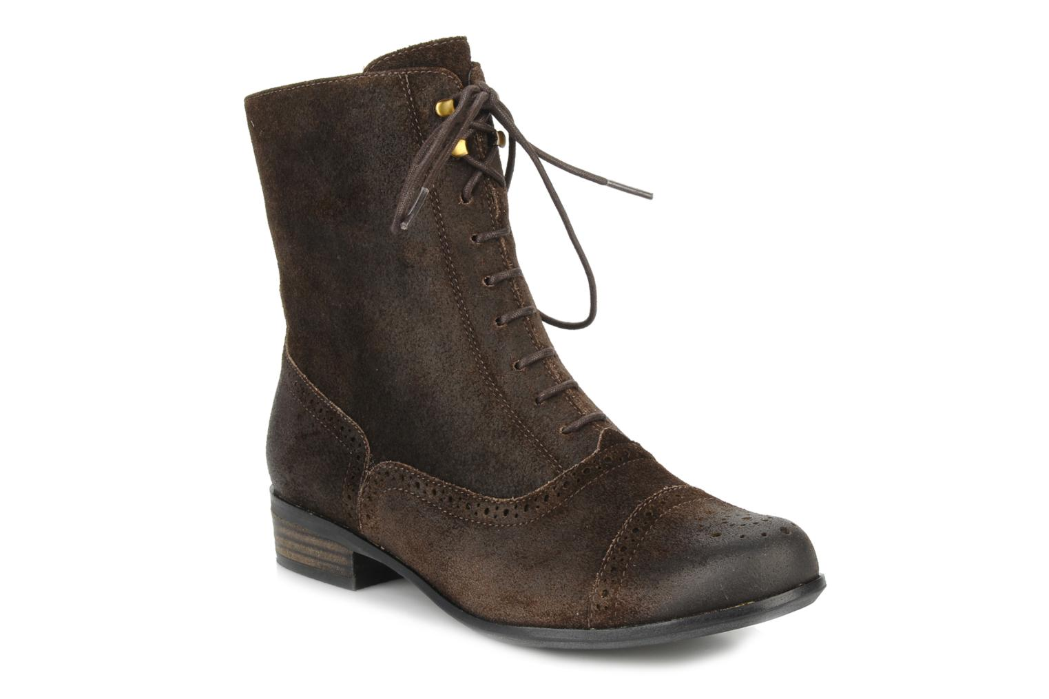 Ankle boots Clarks Meg grace Brown detailed view/ Pair view