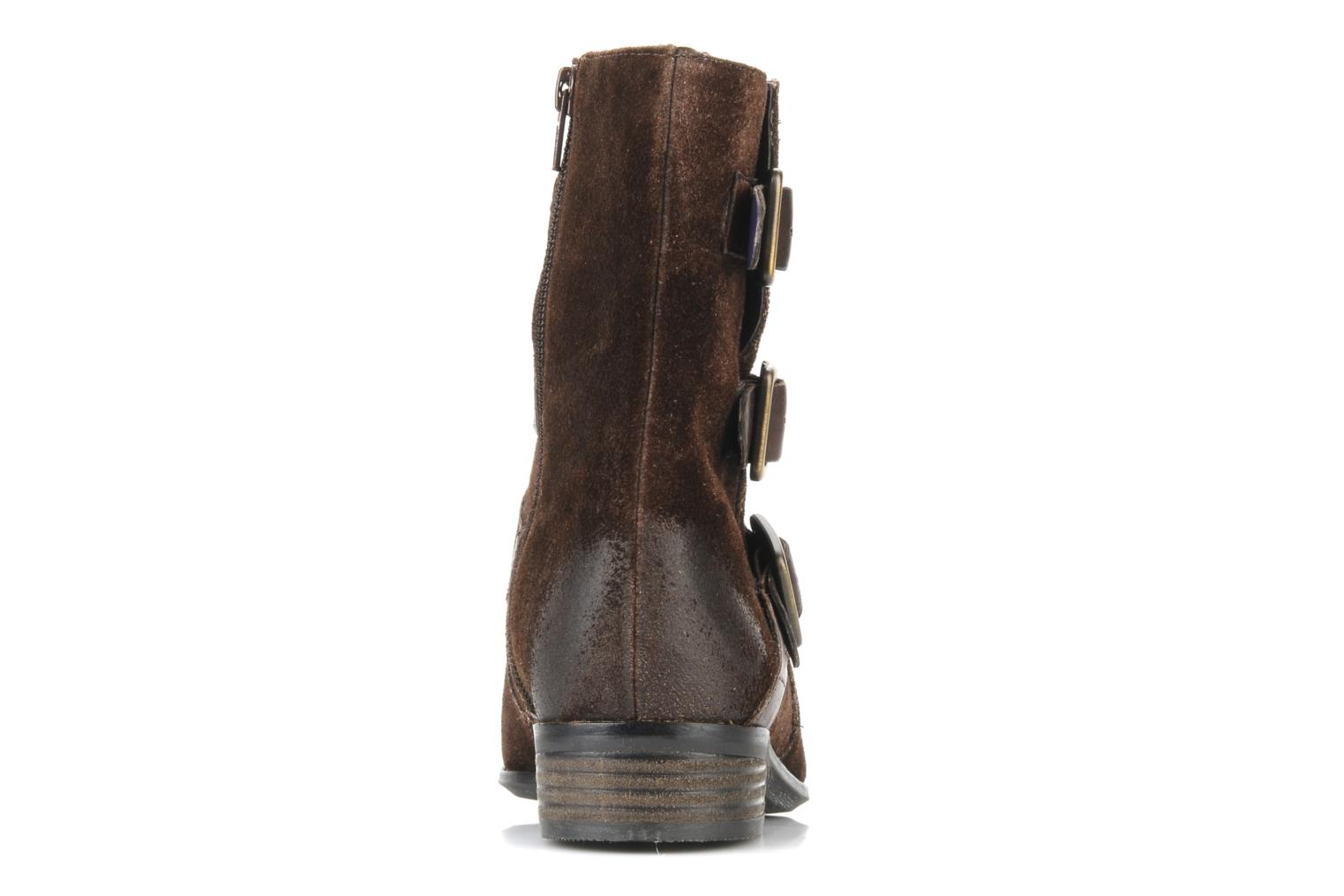 Ankle boots Clarks Meg kelly Brown view from the right
