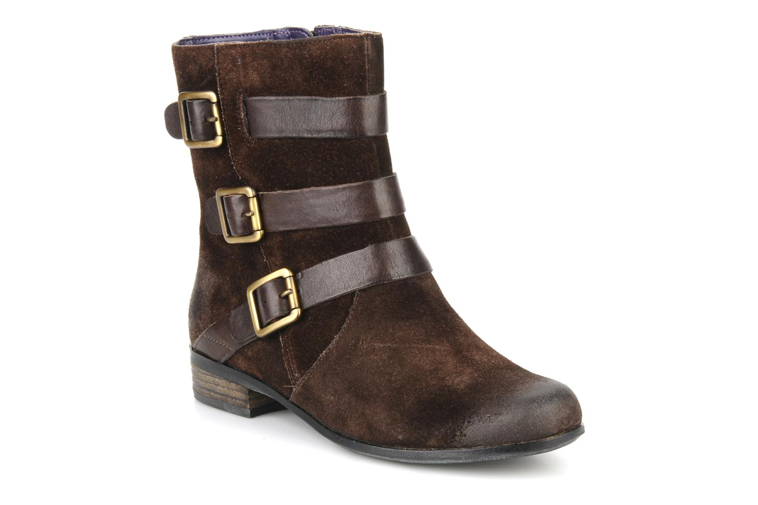 Ankle boots Clarks Meg kelly Brown detailed view/ Pair view