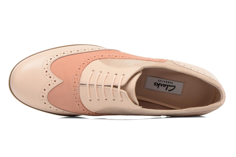 Chaussures à lacets Clarks Hamble Oak Beige vue gauche