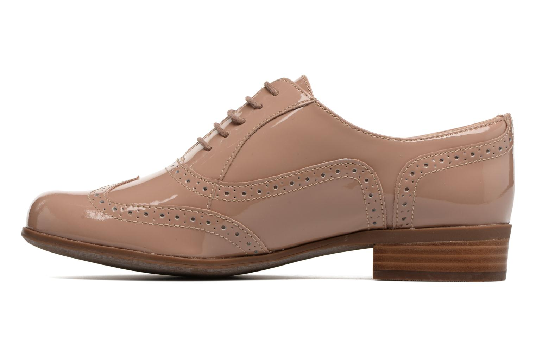 Lace-up shoes Clarks Hamble oak Beige front view