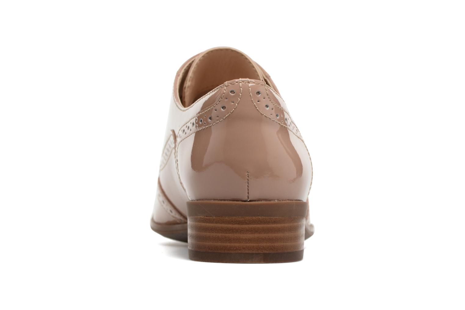 Lace-up shoes Clarks Hamble oak Beige view from the right