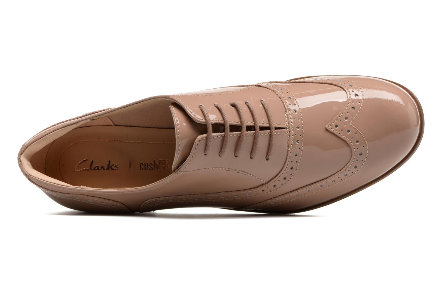 Lace-up shoes Clarks Hamble oak Beige view from the left