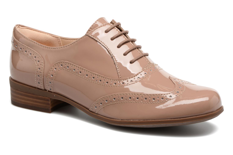 Lace-up shoes Clarks Hamble oak Beige detailed view/ Pair view