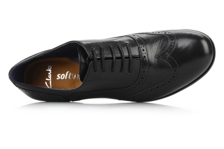 Chaussures à lacets Clarks Hamble Oak Noir vue gauche