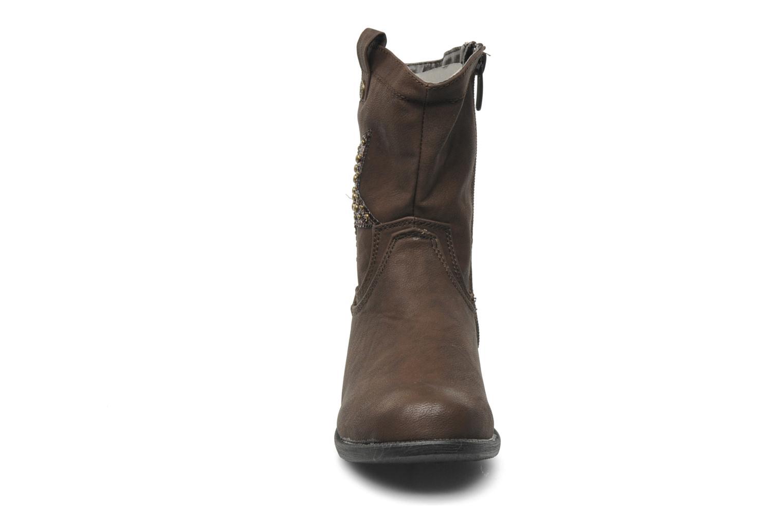 Bottes I Love Shoes Fleur Marron vue portées chaussures