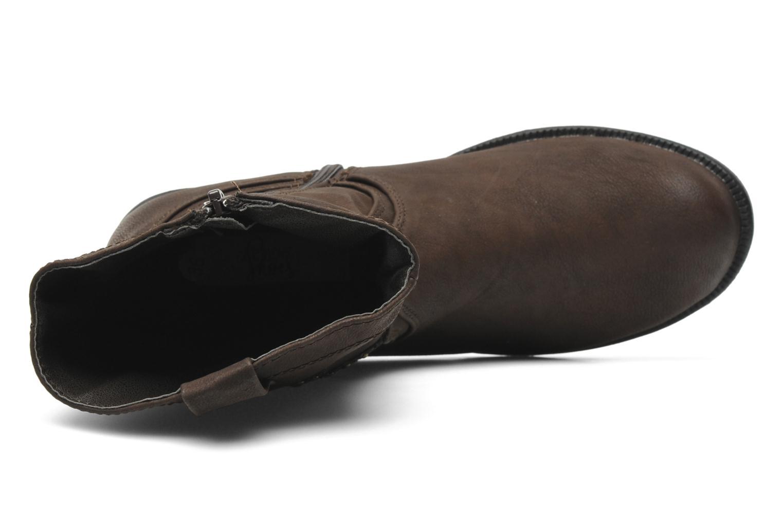 Botas I Love Shoes Fleur Marrón vista lateral izquierda