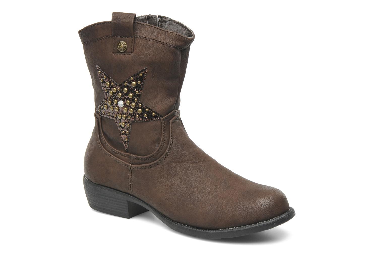 Bottes I Love Shoes Fleur Marron vue détail/paire
