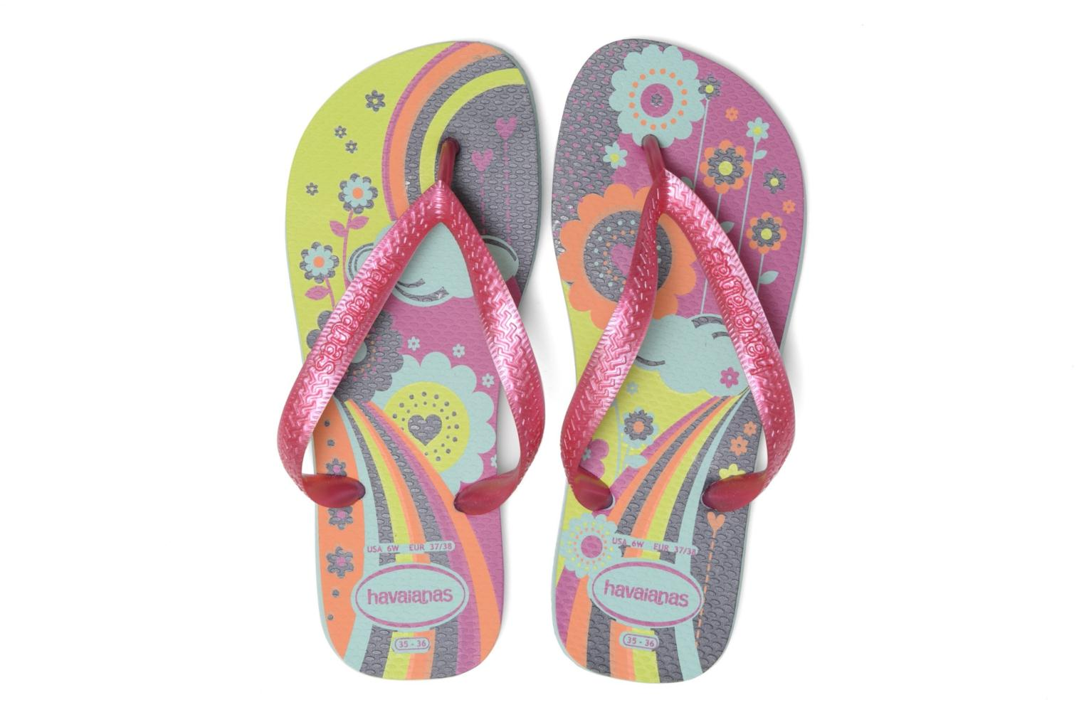 Tongs Havaianas Kids flores Multicolore vue 3/4