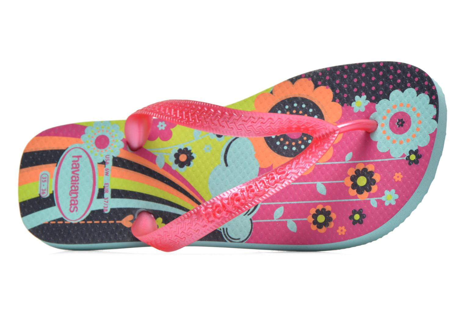 Tongs Havaianas Kids flores Multicolore vue gauche