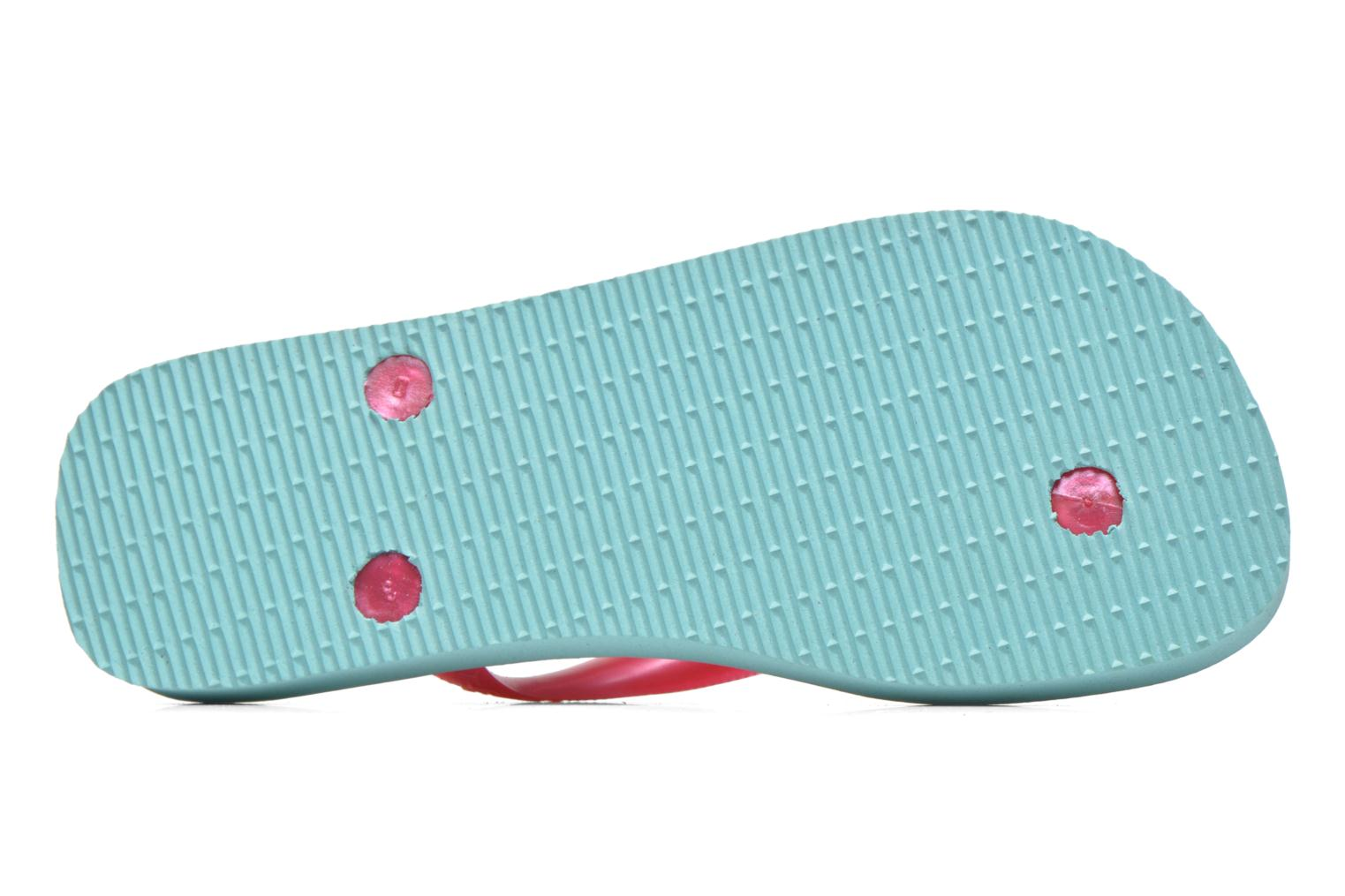Tongs Havaianas Kids flores Multicolore vue haut