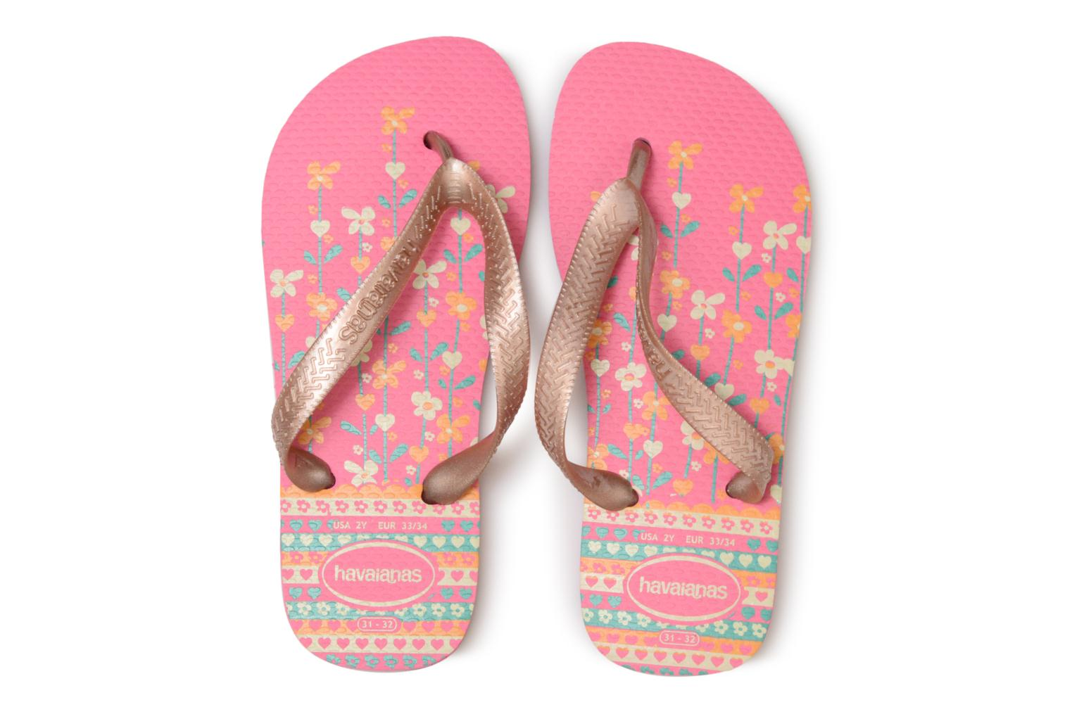 Slippers Havaianas Kids flores Roze model