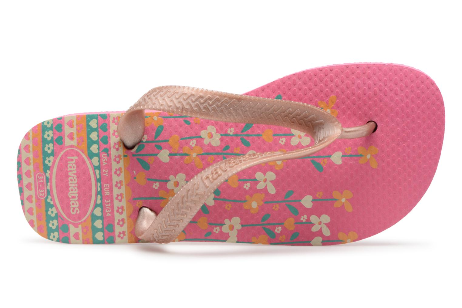 Slippers Havaianas Kids flores Roze links