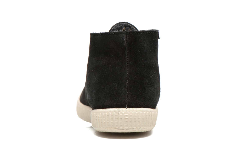 Zapatos con cordones Victoria Safari serraje M Negro vista lateral derecha