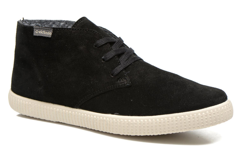 Zapatos con cordones Victoria Safari serraje M Negro vista de detalle / par