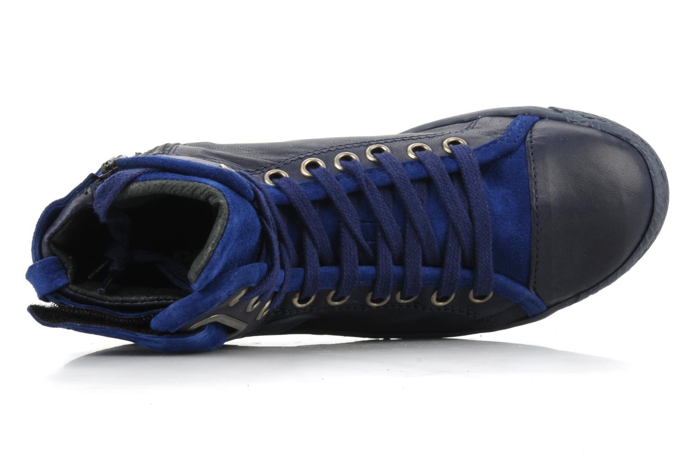 Sneaker Pataugas Justincvn e blau ansicht von links