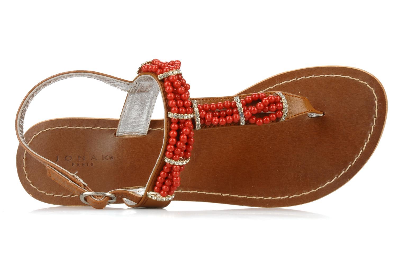 Sandales et nu-pieds Jonak Yoya Rouge vue gauche