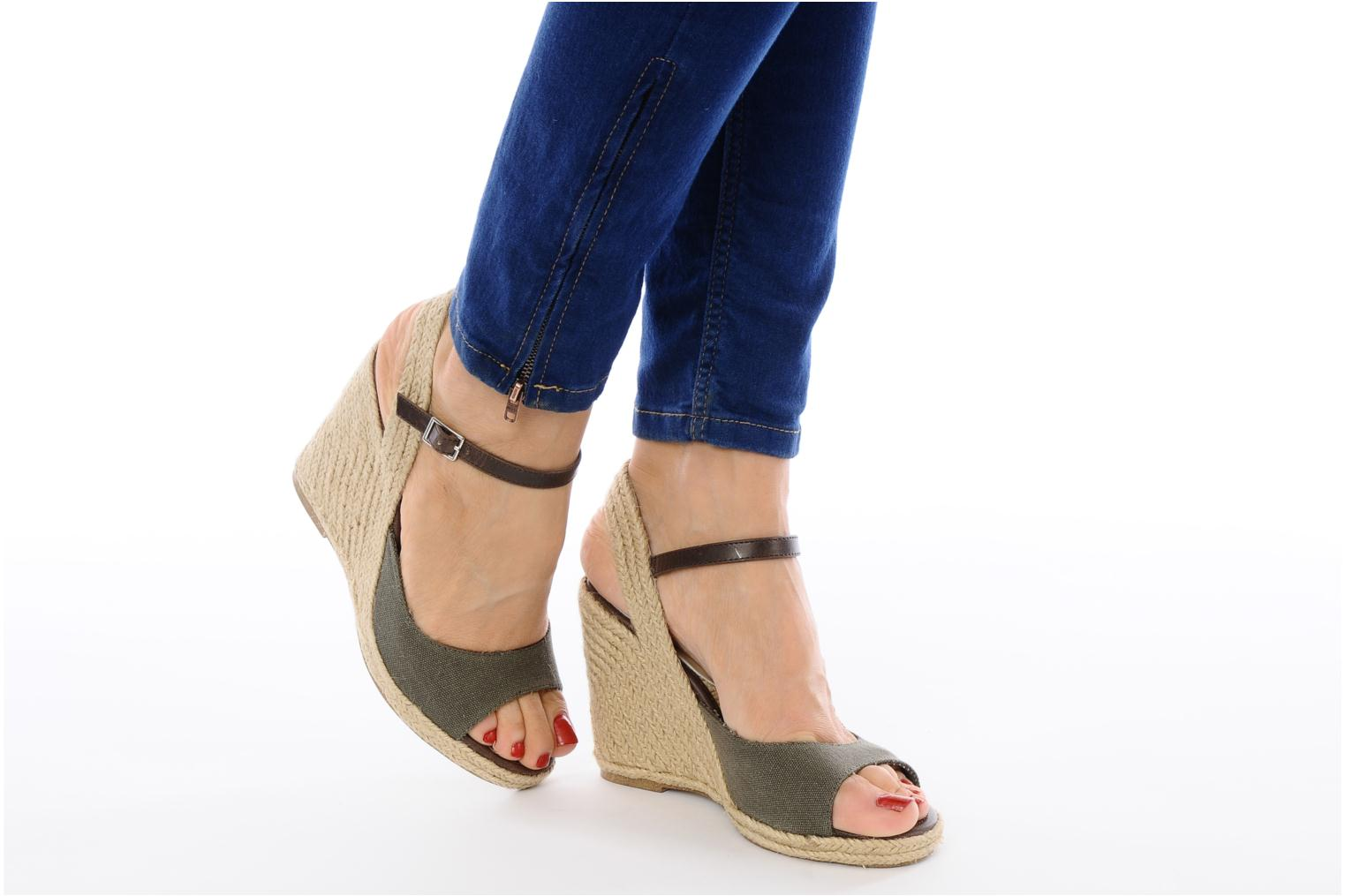 Sandals Jonak Shirelle Green view from underneath / model view