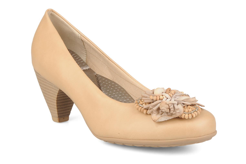 Høje hæle Piccadilly Sola Trigo Beige detaljeret billede af skoene