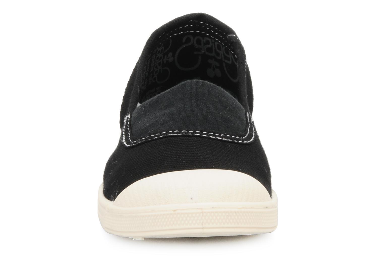 Sneaker Le temps des cerises Basic 01 schwarz schuhe getragen