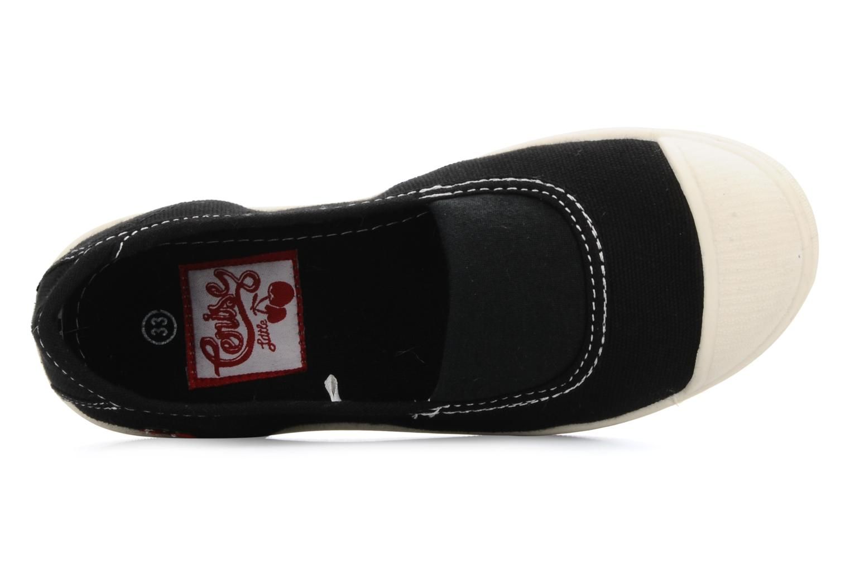 Sneaker Le temps des cerises Basic 01 schwarz ansicht von links