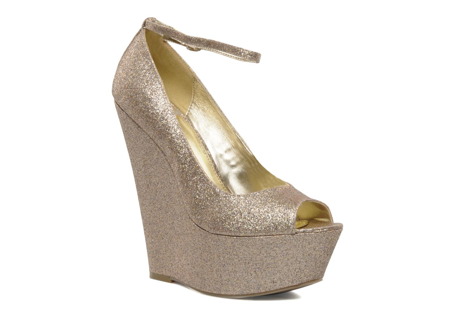 High heels Carvela Grass Bronze and Gold detailed view/ Pair view