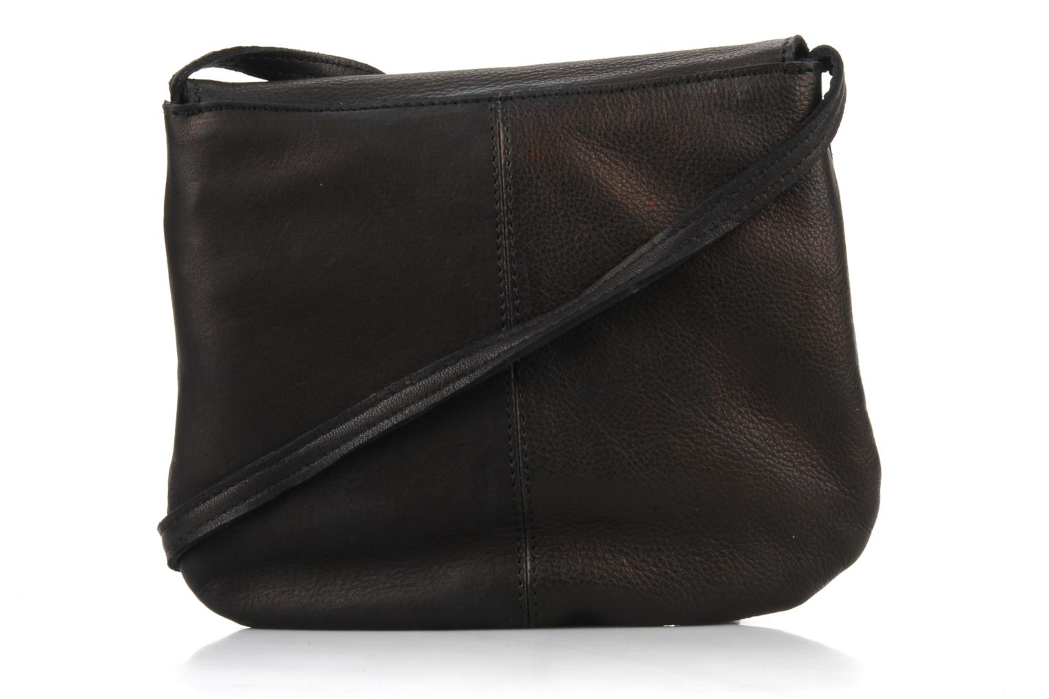 Handtassen Pieces Totally Royal leather Party bag Zwart voorkant