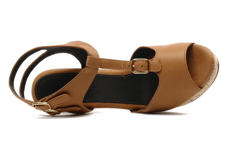 Sandalias Tila March Plateform sandal t-bar Marrón vista lateral izquierda