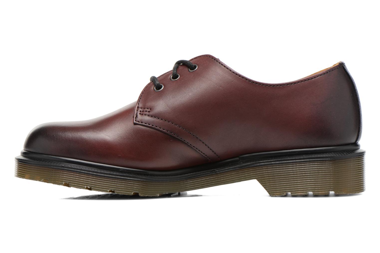 Snörade skor Dr. Martens 1461 w Vinröd bild från framsidan
